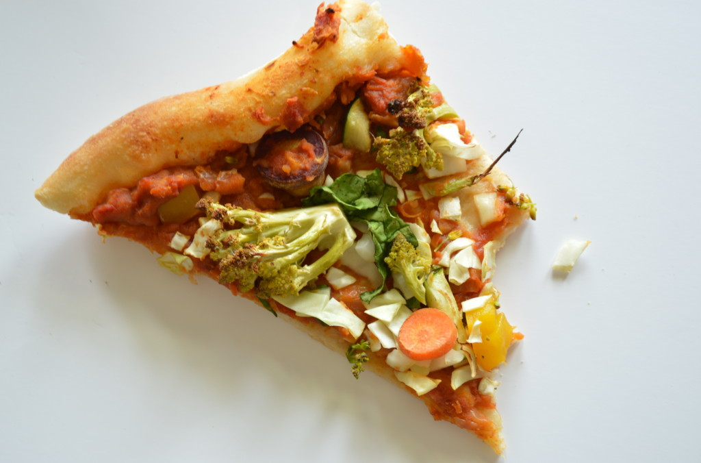 Vegetable Pizza with Tomato and Cannellini Bean Sauce image