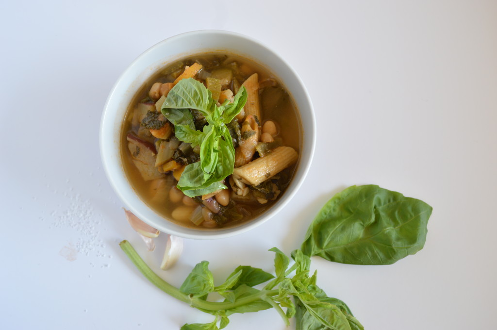 A 'BIG' Minestrone Soup and sentiments on broth image