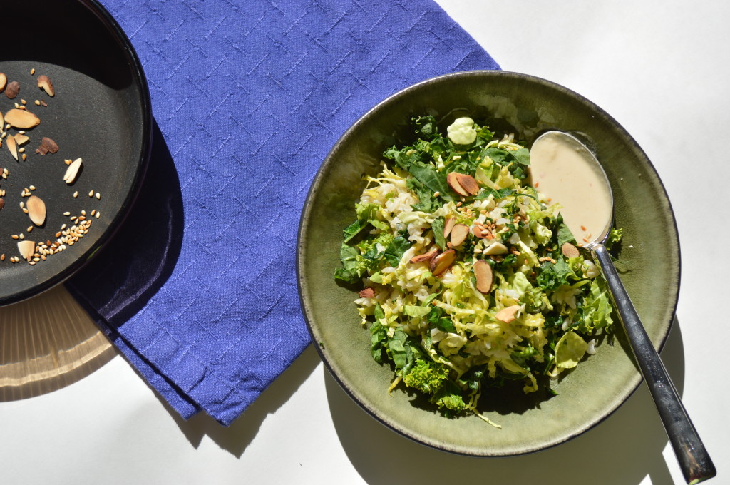 Kale, Brussel Sprout and Broccolini Brown Rice Bowl image