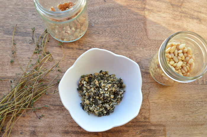 Oil Free Thyme Pesto and Lemon Cumin Dressing image