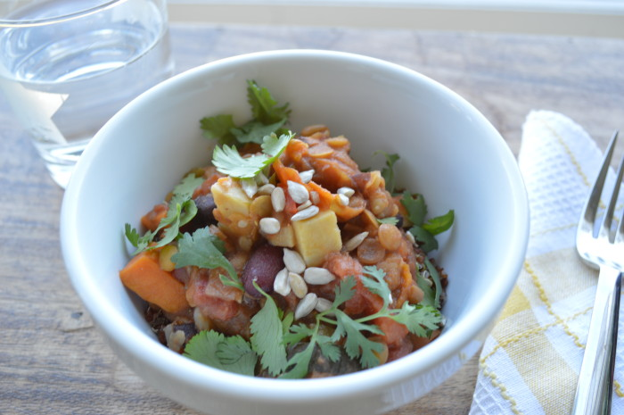 Vegetable Chili Over Quinoa image