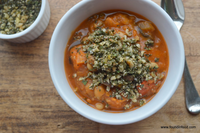 Soupe au Pistou (Roasted Vegetable Soup with Oregano-Thyme Pesto) image