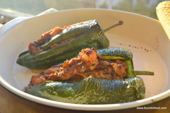 Chili Stuffed Poblano Peppers image