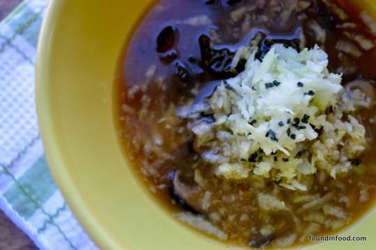 Miso, Mushroom and Kale Soup image